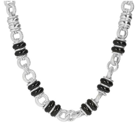 Judith Ripka Verona Sterling Silver Gemstone Necklace, 60.0g