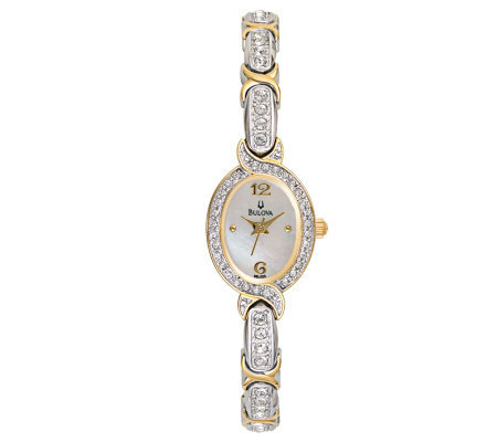 Bulova Women's Crystal-Accented Mother-of-PearlDial Watch