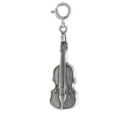 Sterling Violin Charm
