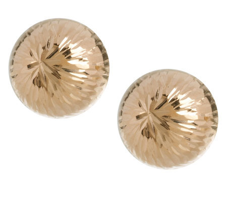9mm Diamond Cut Ball Stud Earrings 14k Gold