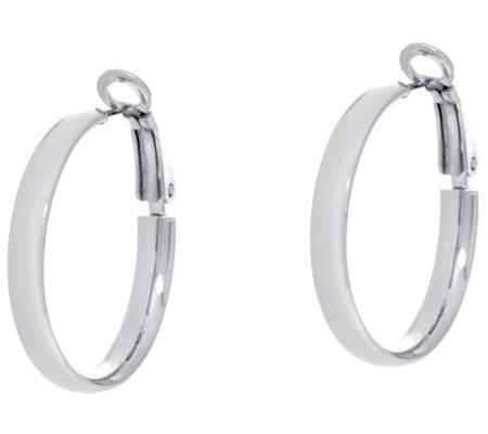 Beginnings Polished Hoop Earrings - Silver Silver (Colour) zOiSBmH