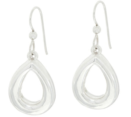 Simon Sebbag Sterling Silver Open Teardrop Earrings