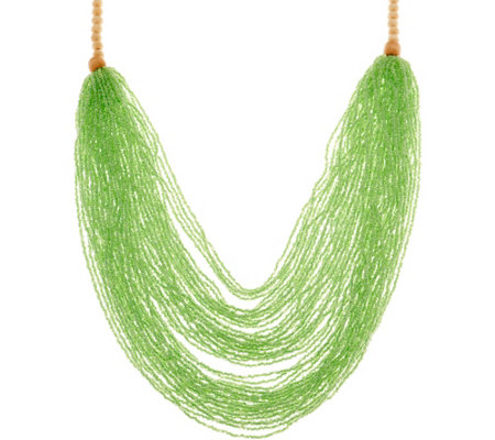 "Joan Rivers Seedbead Layered 32"" Necklace"