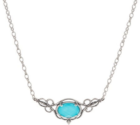 Carolyn Pollack Country Couture Sterling Silver Gemstone Necklace