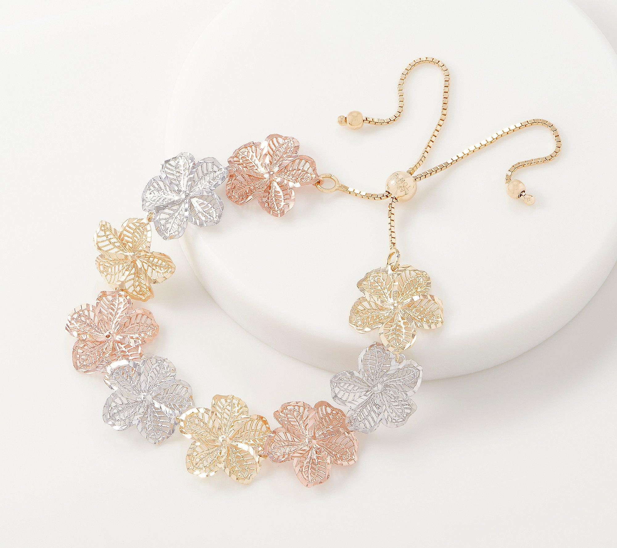 Infinity bracelet gold plated cubic zirconia bracelet in gold plated sterling silver delicate dainty multi strand adjustable bracelet