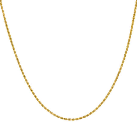 "14K Diamond Cut 24"" Rope Necklace, 16.3g"