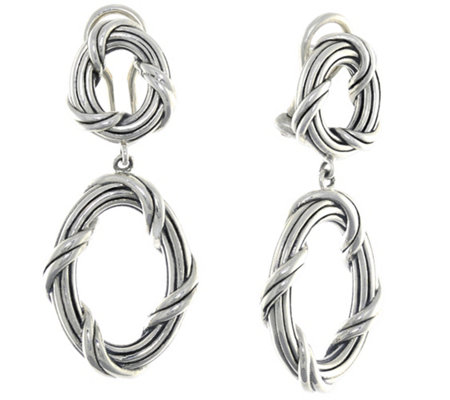 Peter Thomas Roth Sterling Signature Oval Clip-On Earrings