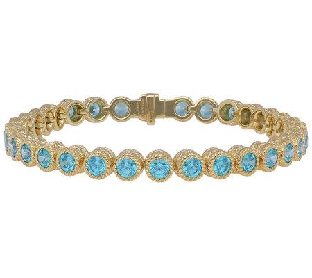 Judith Ripka 14k Clad Green Diamonique 7 1 4 Bracelet