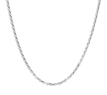 Ultrafine Silver 36 Diamond Cut Rope Chain Necklace 24 0g