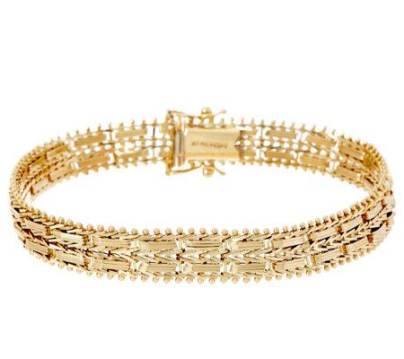 Imperial Gold Mirror Bar Bracelet 14k 16 5g 18 Qvc