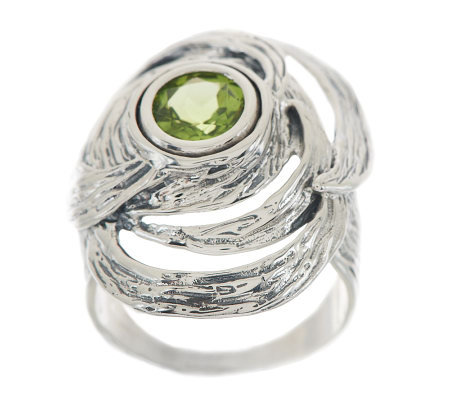 """As Is"" Hagit Gorali Sterling Vibes 1.00 ct Peridot Ring"