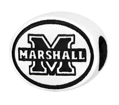 Sterling Silver Marshall University Bead