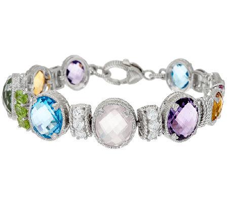 Judith Ripka Sterling Multi Gemstone Bracelet