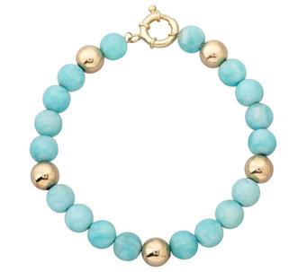 Eternagold 8 Gemstone Bead Bracelet 14k Gold J337427
