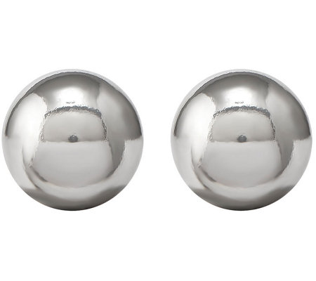 Sterling 8mm Polished Ball Post Earrings by Silver Style