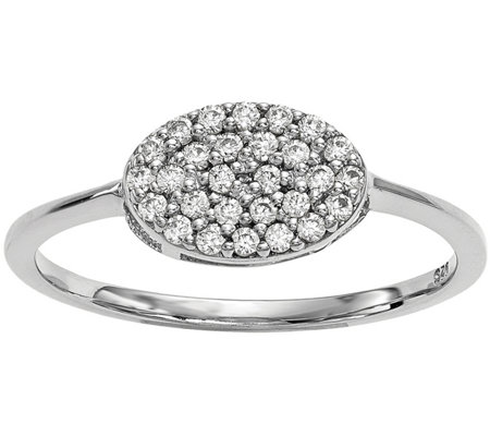 Dainty Designs 14K 1/5 cttw Diamond Oval Ring