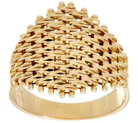 Imperial Gold Lame' Marquise Shaped Ring 14K Gold