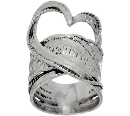 Or Paz Sterling Free-form Heart Ring