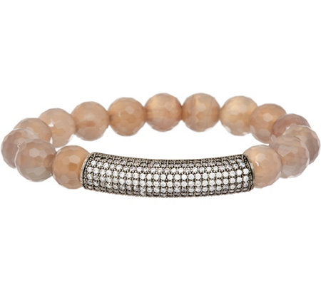 """As Is"" Ellie Madison Gemstone & Crystal Station Bracelet"