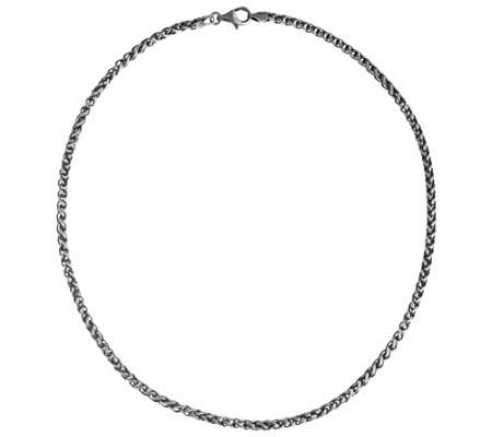 "Or Paz Men's Sterling Silver 22"" Bold Spiga Chain, 35.0g"