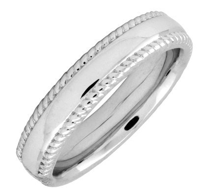 Simply Stacks Sterling 4.25mm Ribbed-Edge Ring