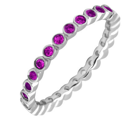 Simply Stacks Sterling Rhodolite Garnet Stackable Ring