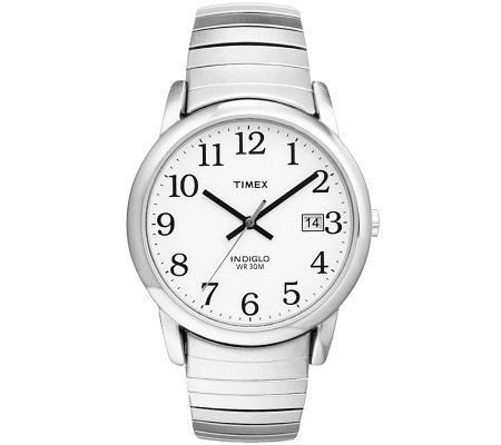 Timex Men's Silvertone Easy Reader Watch