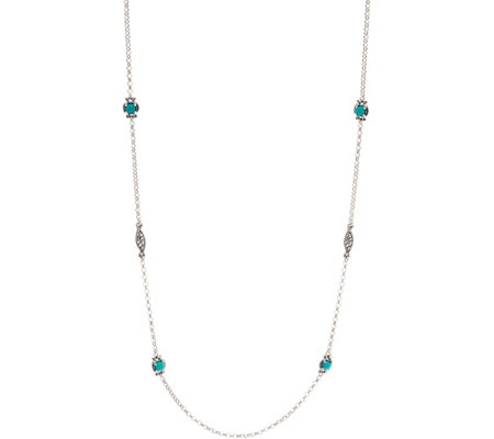 "Carolyn Pollack Sterling Silver Simply Fabulous Gemstone 32"" Necklace"