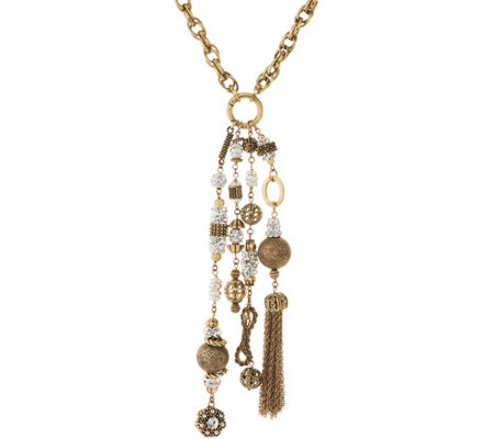 Joan Rivers Private Collection Crystal Tassel Necklace
