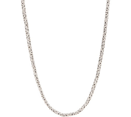 "Artisan Crafted Sterling Silver 32"" Borobudor Chain Necklace"