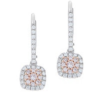 Affinity Diamond Natural Pink Earrings, 1/2 cttw, 14K - J357428