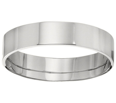 Women's 18K White Gold 5mm Flat Wedding Band