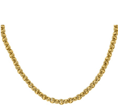 Italian Gold Knotted Link Necklace 14K Gold, 16.8g