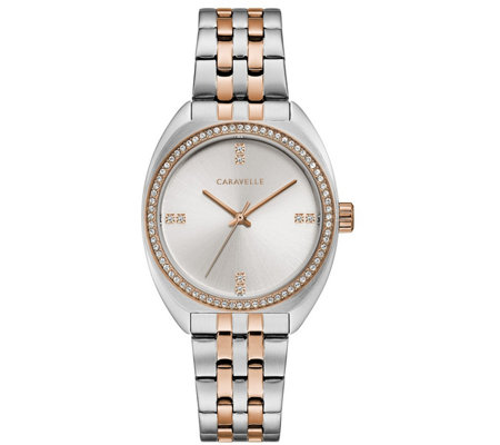 Caravelle by Bulova Women's Two-Tone Crystal Watch