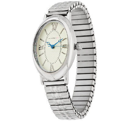 Isaac Mizrahi Live! Oval Case Expansion Watch