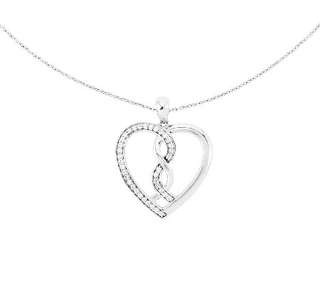Sentimental Expressions Sterling 18 Hearts Joined Necklace