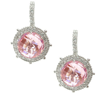 Judith Ripka Sterling & Choice of Color Diamonique Earrings