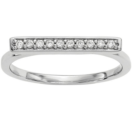 Dainty Designs 14K 1/10 cttw Diamond Bar Ring
