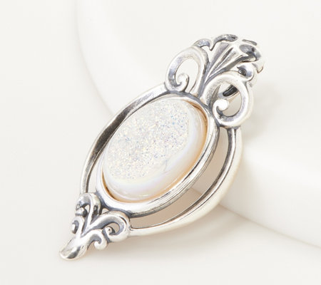 Carolyn Pollack Country Couture Oval Drusy Sterling Silver Enhancer