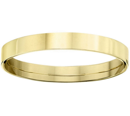 Men's 14K Yellow Gold 3mm Flat Comfort Fit Wedding Band