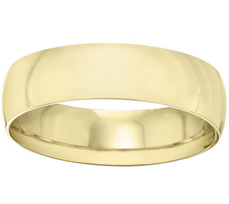 Women's 14K Yellow Gold 6mm Half Round WeddingBand
