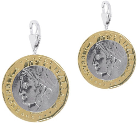 Italian Silver Set of 2 1000-Lire Coin Charms,Sterling