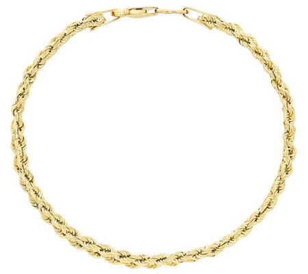 Eternagold 6 3 4 Three Row Rope Chain Bracelet 14k Gold