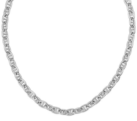 Italian Silver Marine Link Necklace 21 6g
