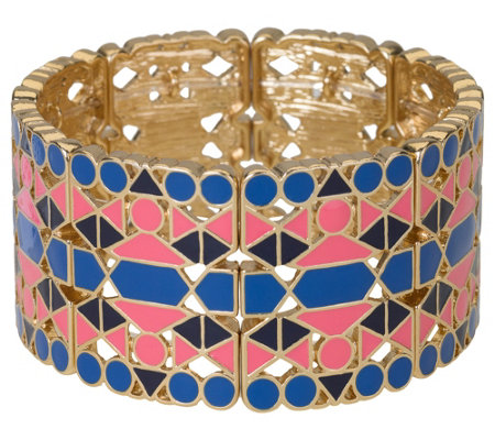 Belle By Kim Gravel Embelleish Mosaic Tile Stretch Bracelet