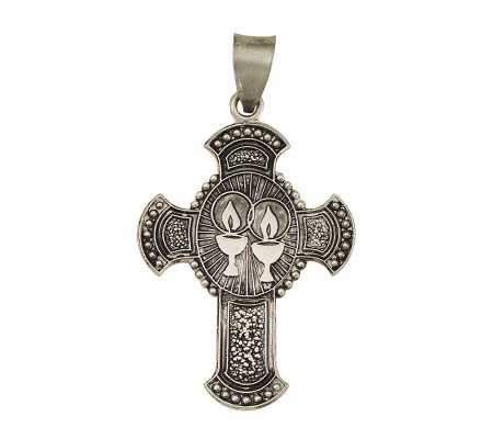 Sterling Silver Candle Cross Of Enlightenment Charm