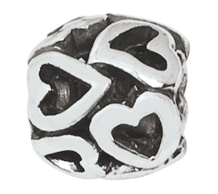 Prerogatives Sterling Multi-Heart Bali Bead