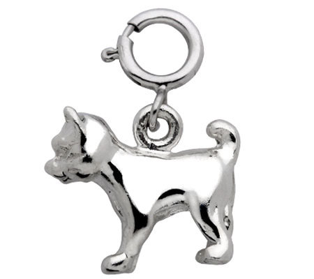 Sterling Cat Charm