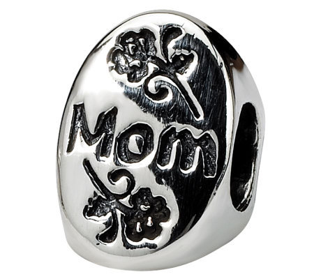 Prerogatives Sterling Silver #1 Mom Trilogy Oval Bead