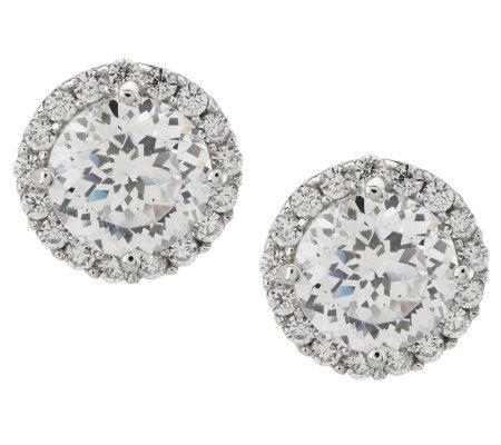 Tacori Iv Diamonique Epiphany 2 30 Ct Tw Halo Stud Earrings
